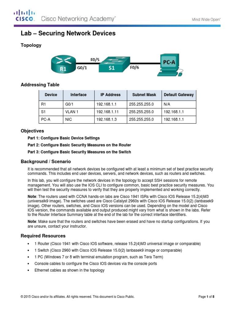 Lab practice pdf ccna
