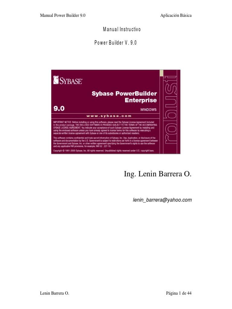 download manual de power builder 9 1 espa ol docshare tips rh docshare tips manual power builder 11.5 español pdf manual powerbuilder 9 pdf