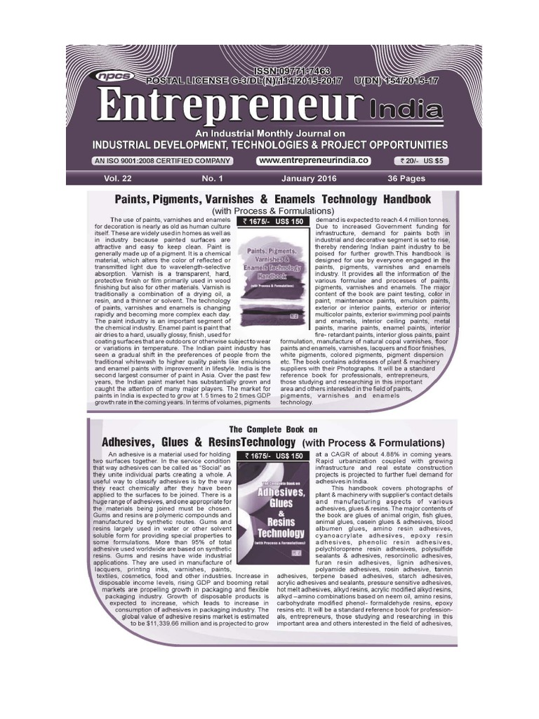 January 2016 Entrepreneur India Monthly Magazine Circuit Board Dream Maker Rs101
