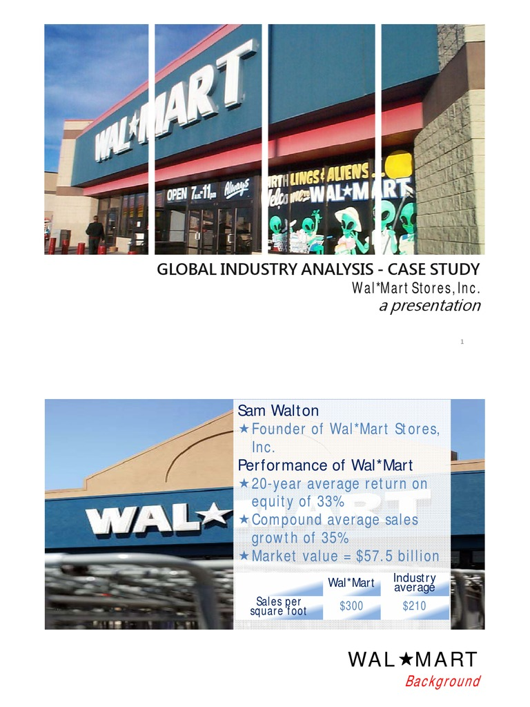 case study about wal mart stores inc Related documents: a case study on wal-mart stores, inc: a new set of challenges essay supermarket and wal-mart stores essay issue for years, wal-mart has been a.