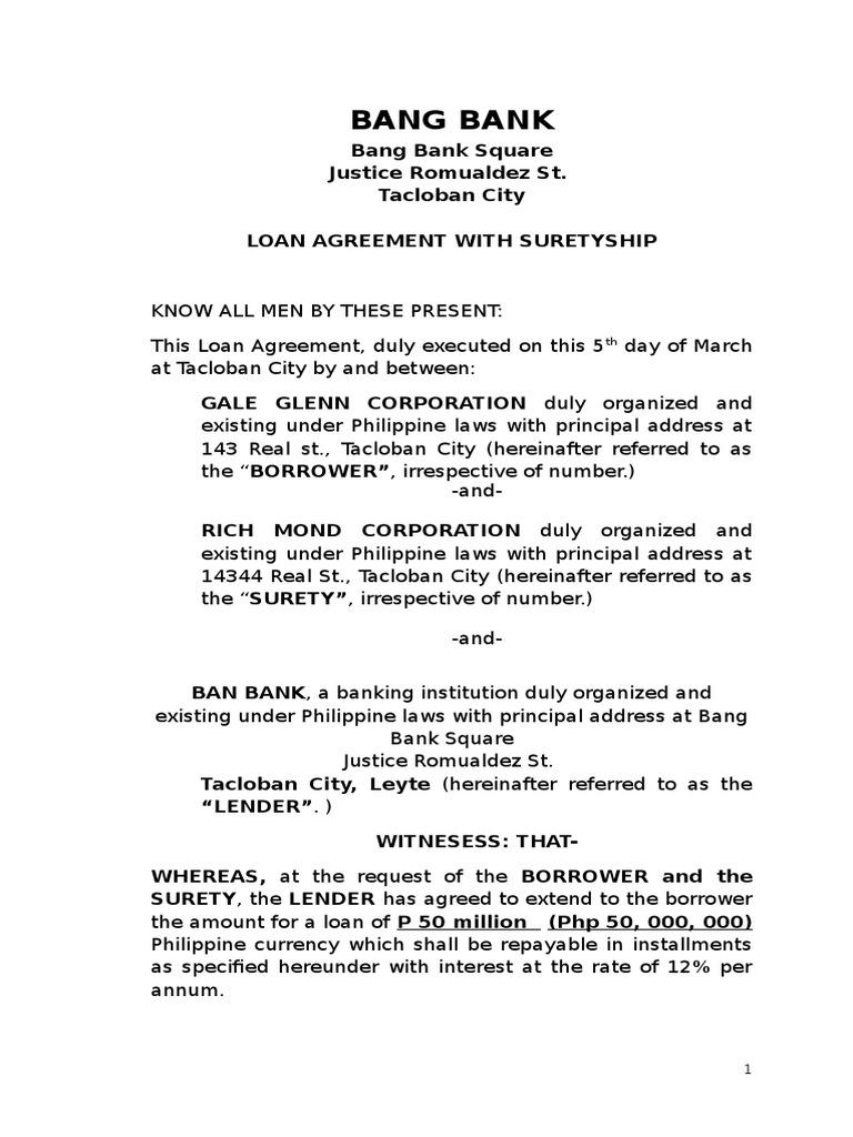 Loan guarantee Surety Agreement 19