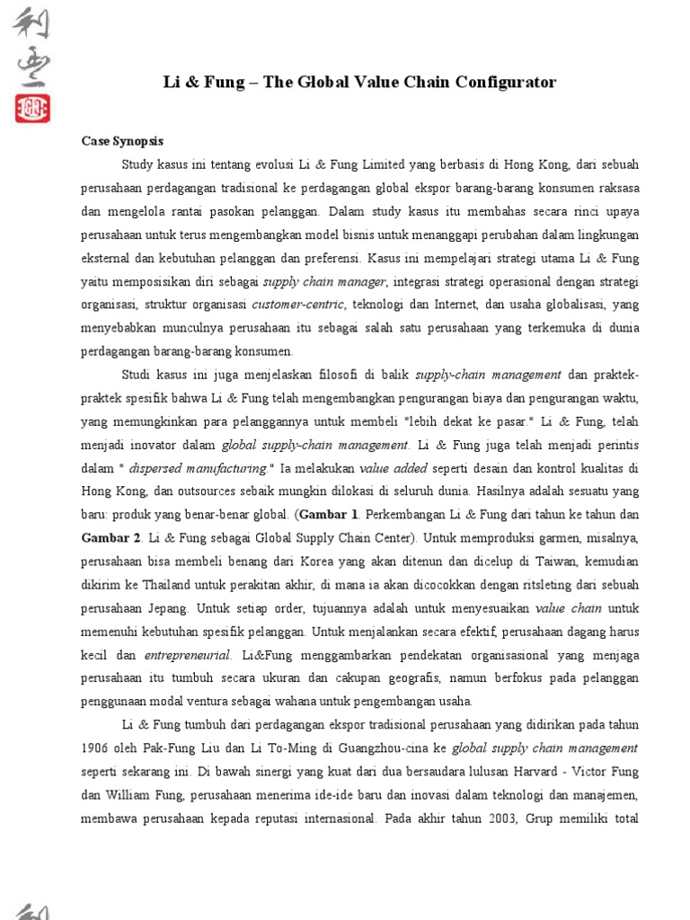 li and fung case study Victor fung - business forecast & economic outlook 2012 in hong kong, chicago booth - duration: 20:36 chicago booth review 2,586 views.