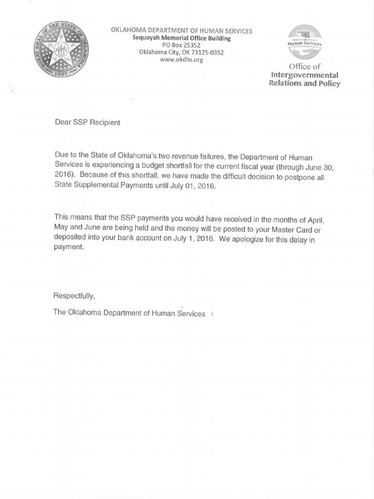 DHS SSP letter - DocShare tips