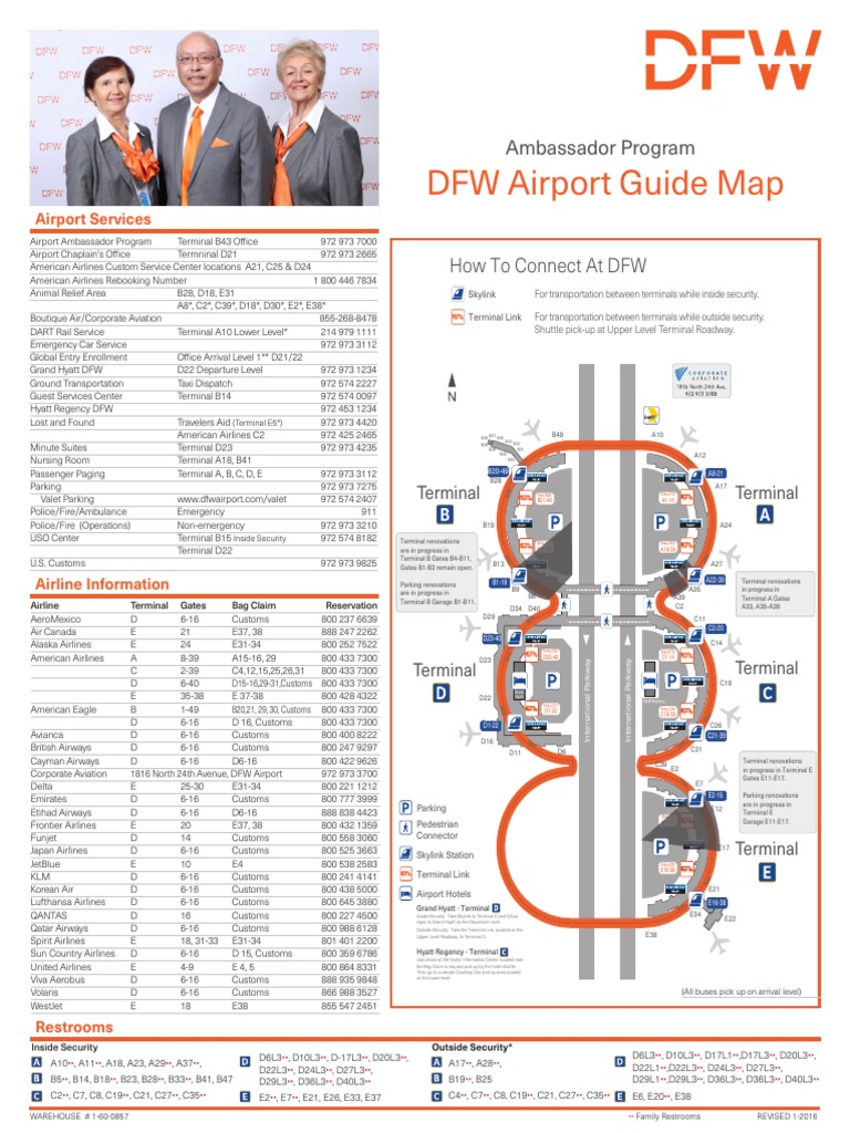 Dfw Airport Guide Map DFW map   DocShare.tips