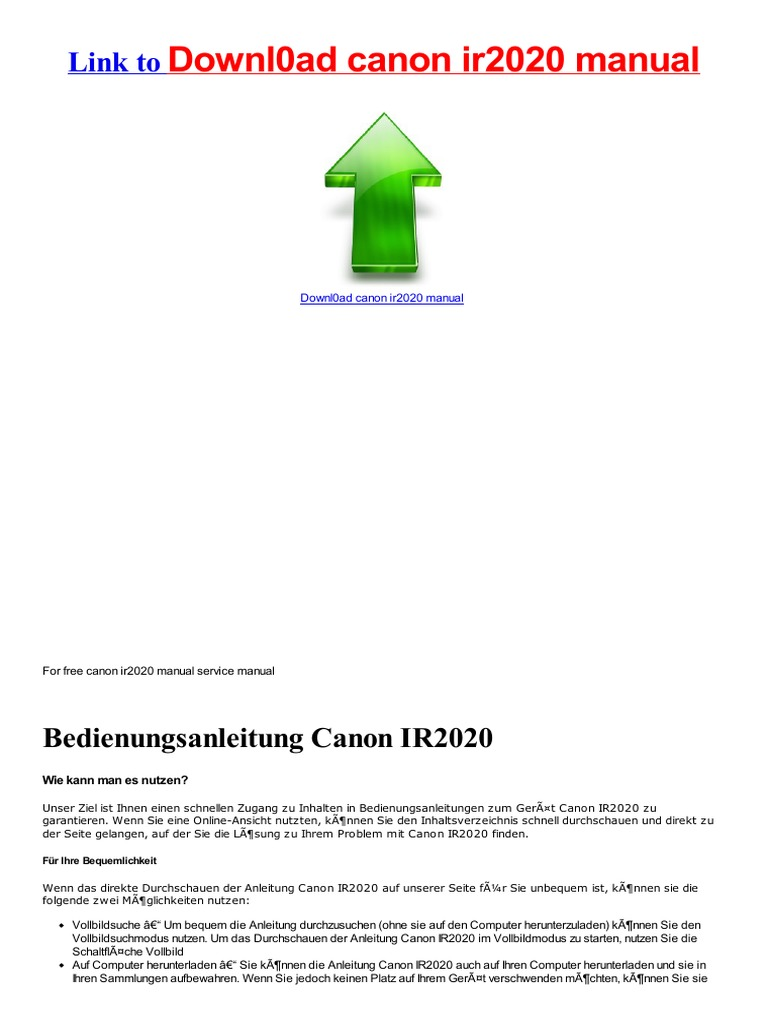 service manual canon ir2020 manual download922239295 html docshare