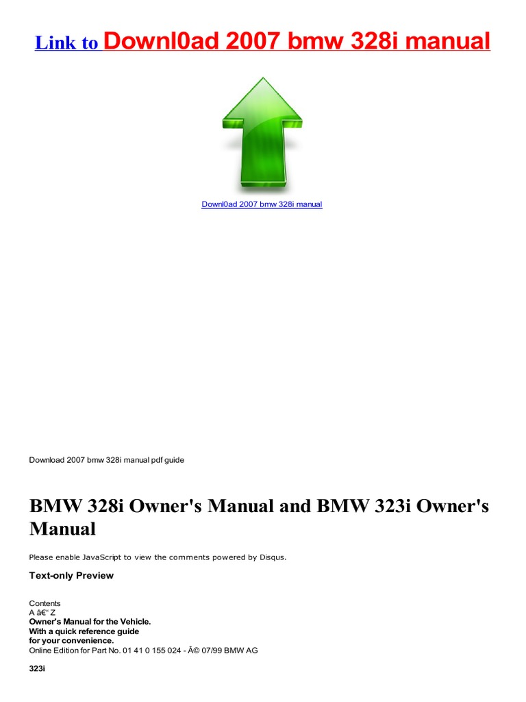 Service Manual 2007 bmw 328i manual for free