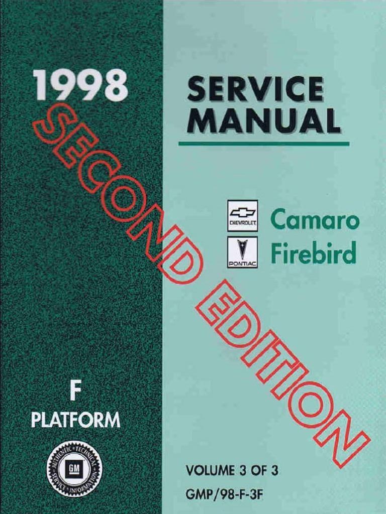 1998 Pontiac Chevrolet Camaro Firebird Service Manual Volume 3 Dtc P1545 Air Conditioning A C Clutch Relay Control Circuit