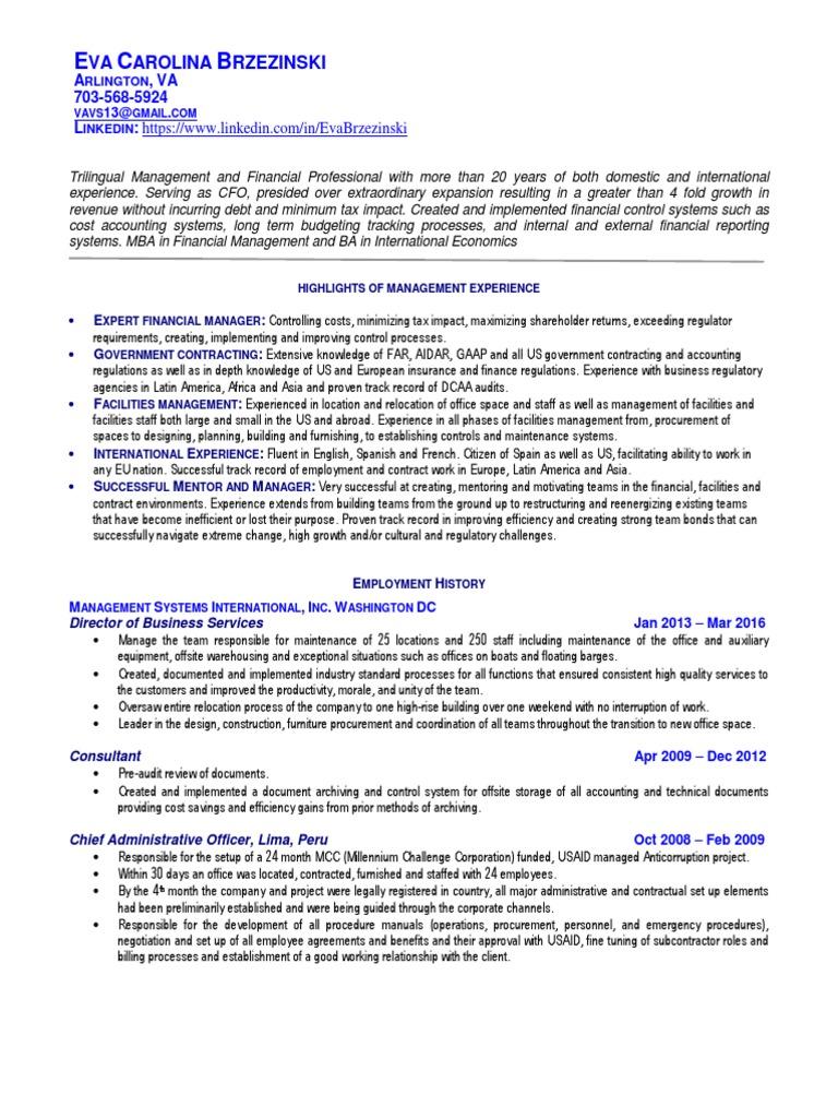 Stunning Washington Dc Accounting Resume Gallery - Best Resume ...