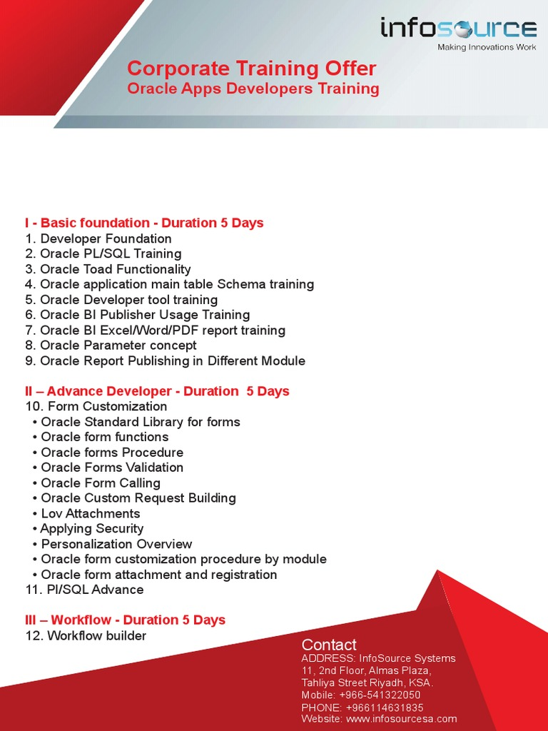 Oracle Apps Traning Brochure - DocShare tips