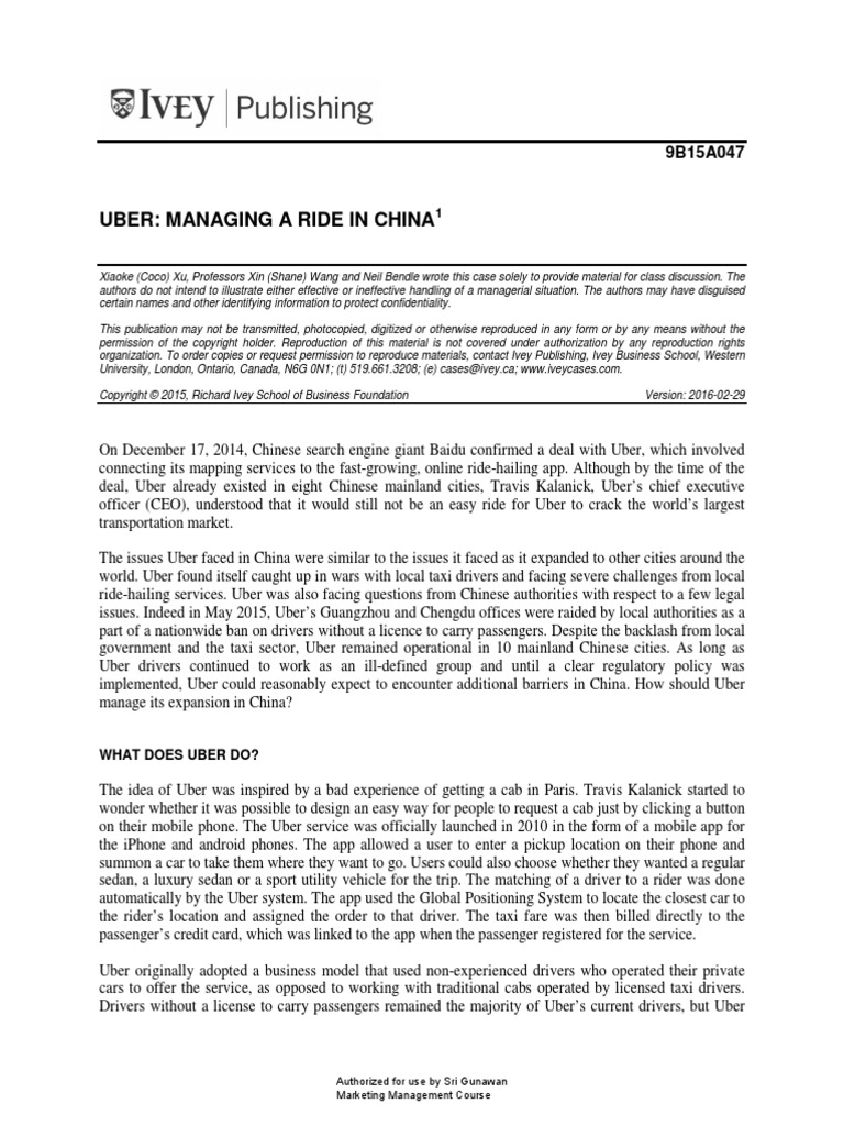 4  uber in china pdf - DocShare tips