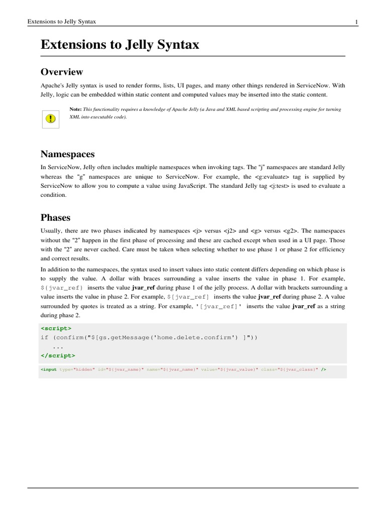 Extensions to Jelly Syntax pdf - DocShare tips
