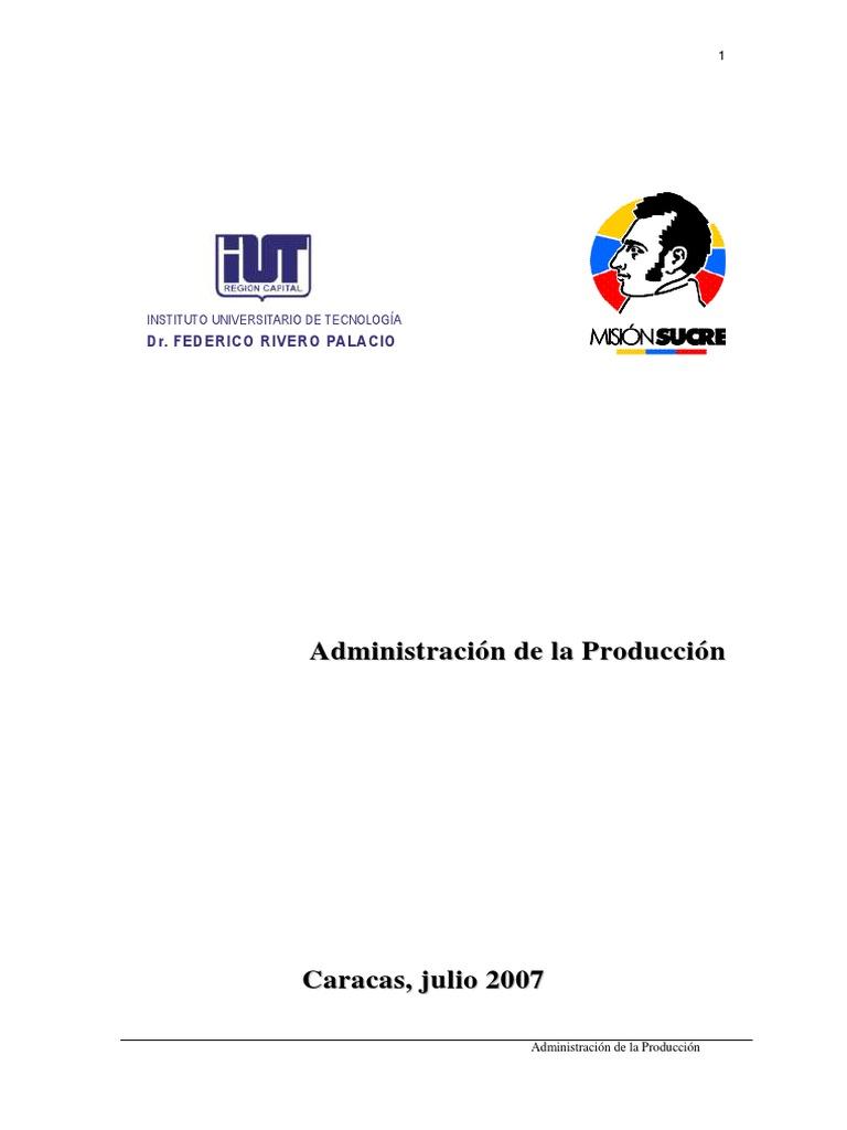Administracion De La Produccion Pdf