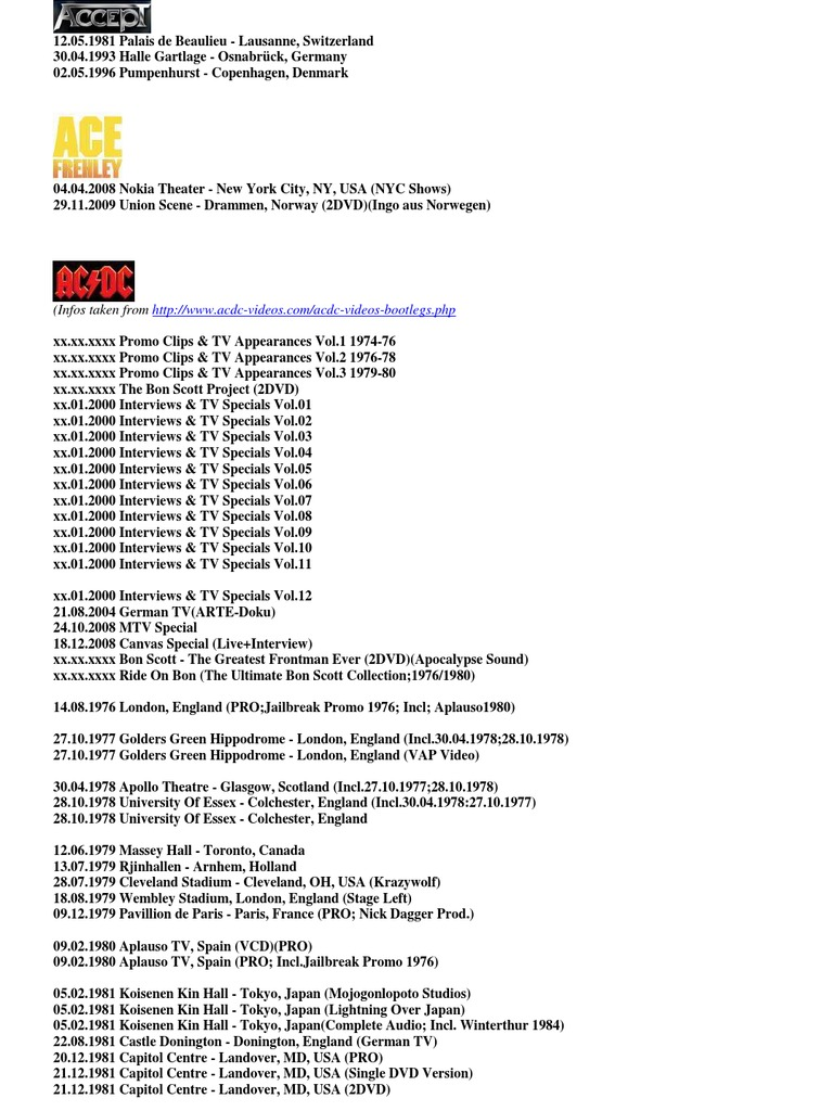 DVD Bootlegs 02 05 - DocShare tips