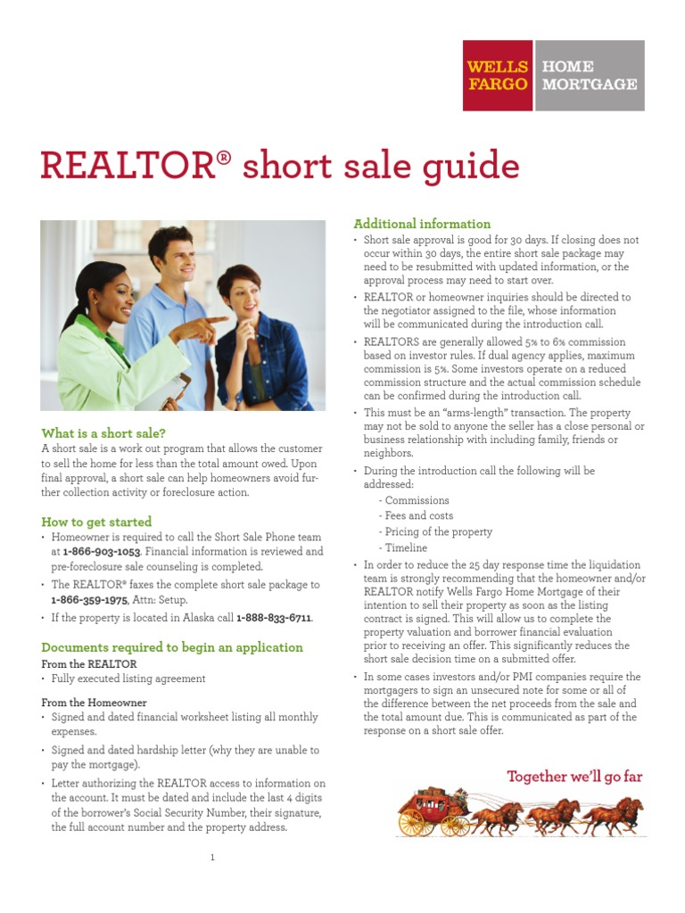 Download Wells Fargo Fha PreForeclosure Short Sale Approval Letter