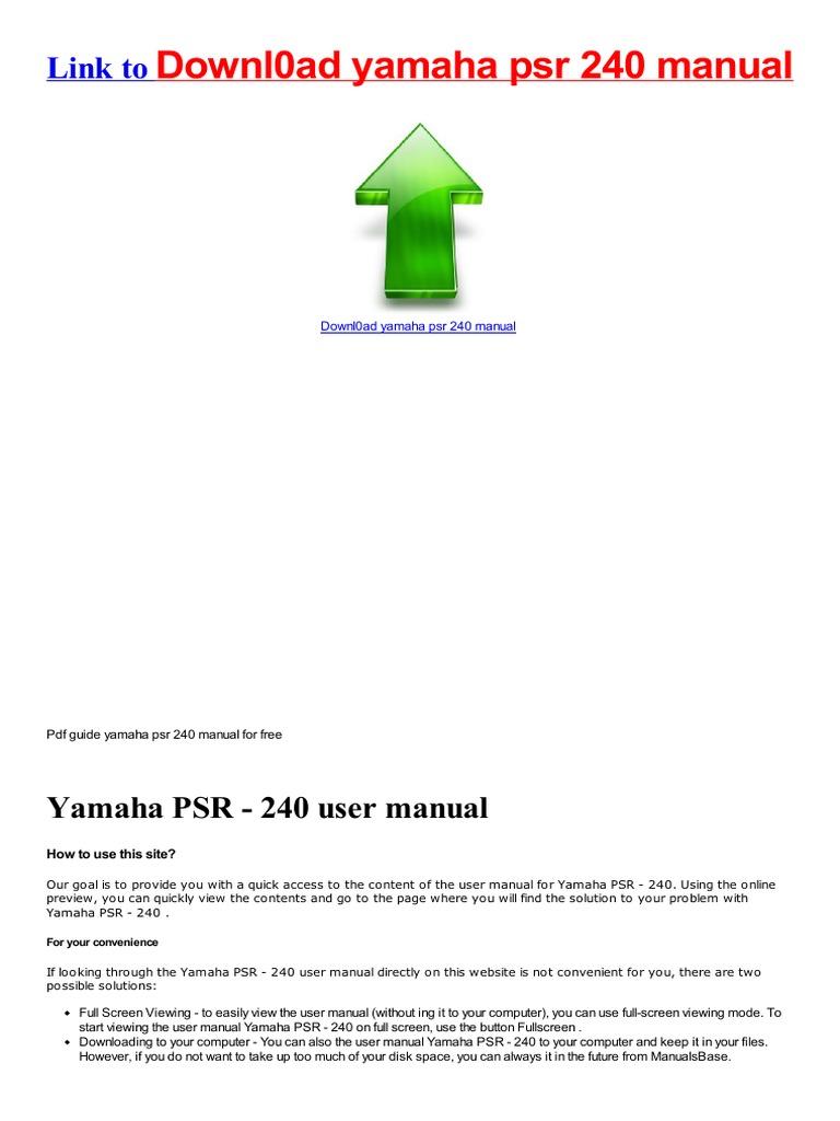 yamaha user manual free