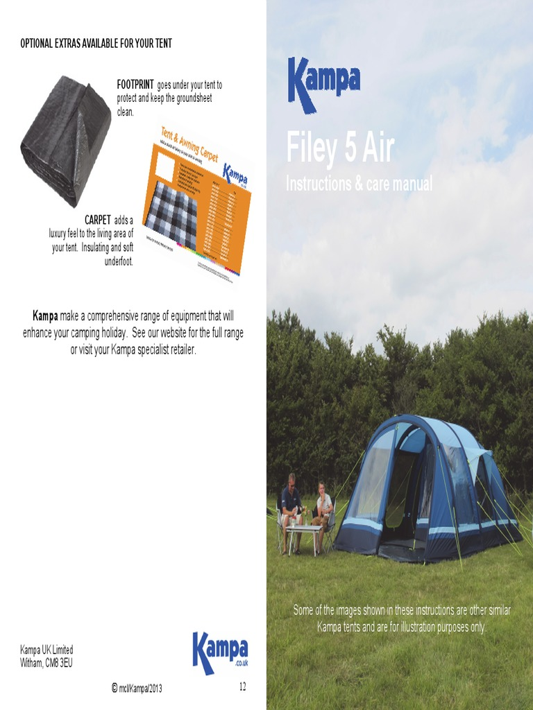 Download Kampa Filey 5 Air Tent - DocShare.tips