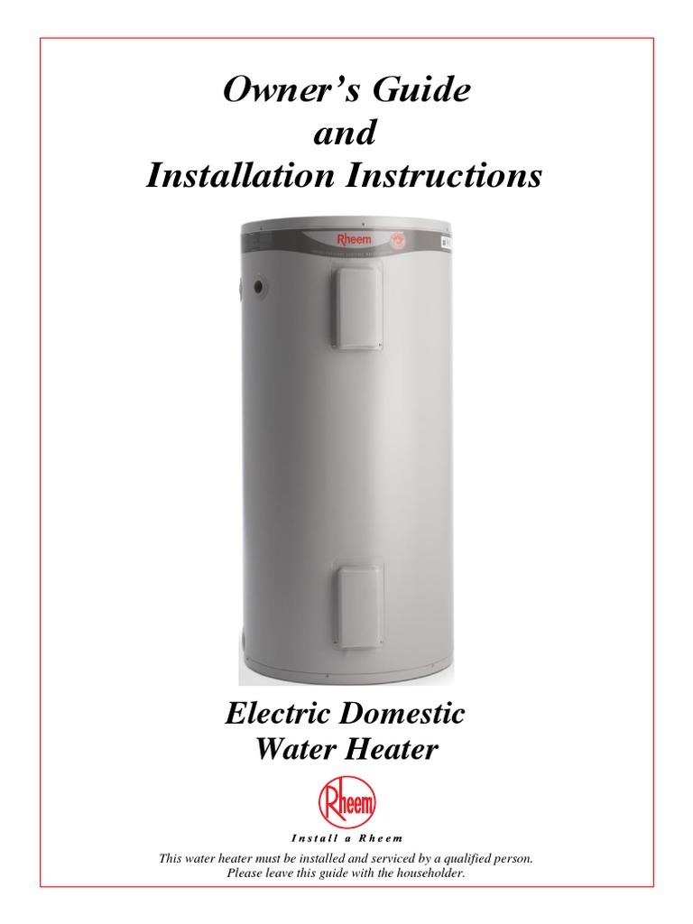 Download Rheem Water Heater - DocShare.tips