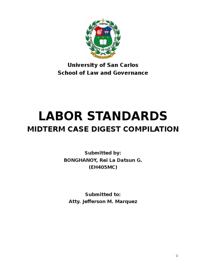 Labor Midterm Case Digests - DocShare tips