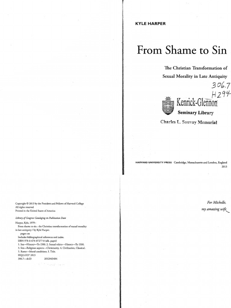 Harper, From Shame to Sin (Harvard, 2013) - DocShare tips