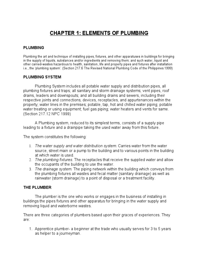 Revised Plumbing Code of the Philippines pdf - DocShare tips