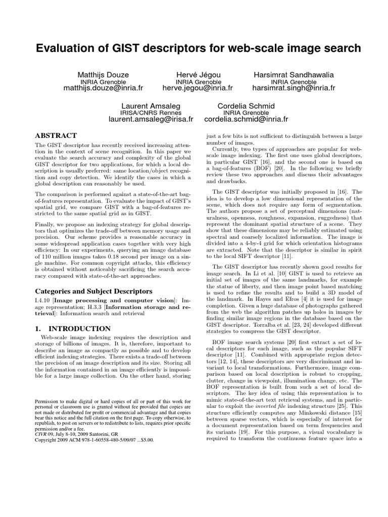 Rennes eval - Gist Evaluation