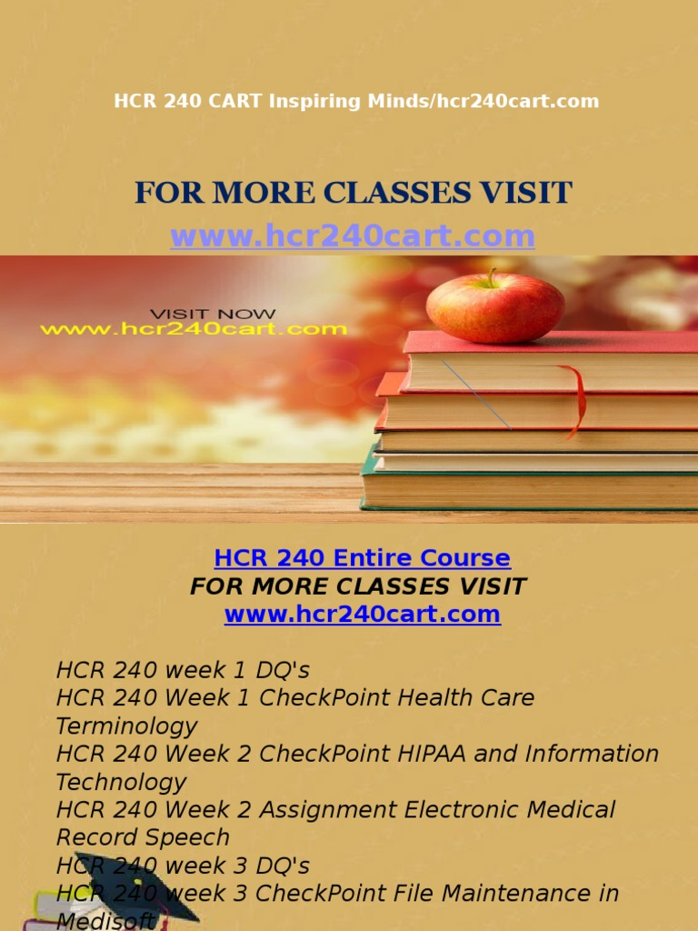 hcr 240 week 7 Get help for university of phoenix hcr 240 for all week assignments and discussions we provide assignment, homework, discussions and case studies help for all.