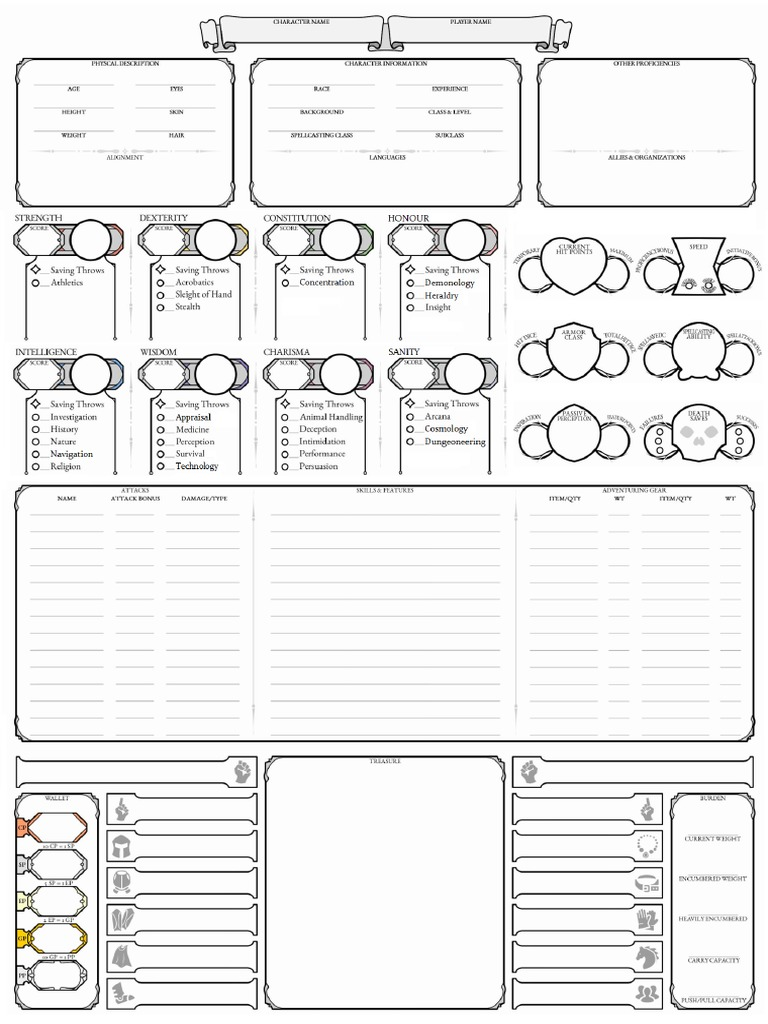 D&D 5e Character Sheet - DocShare tips