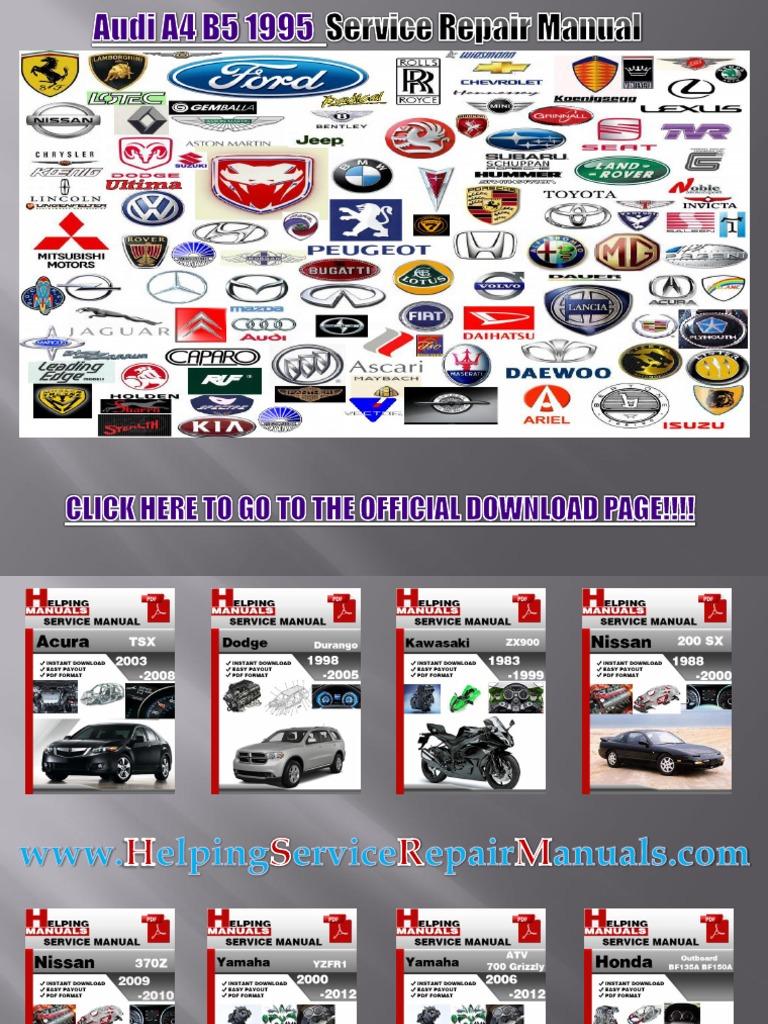 Download Audi B5 Rs4 V6biturbo Engine Part Numbers 2005 A4 Schematics 1995 Service Repair Manual