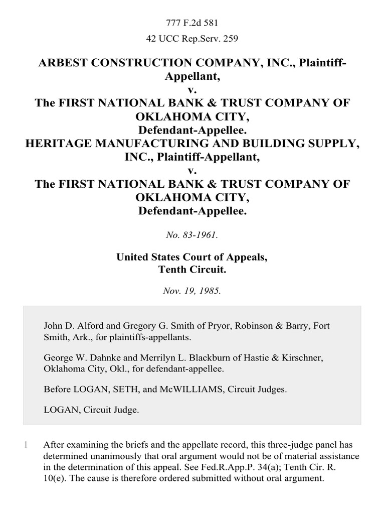 Download First National Bank of Fort Smith, Arkansas, and Gulf ...