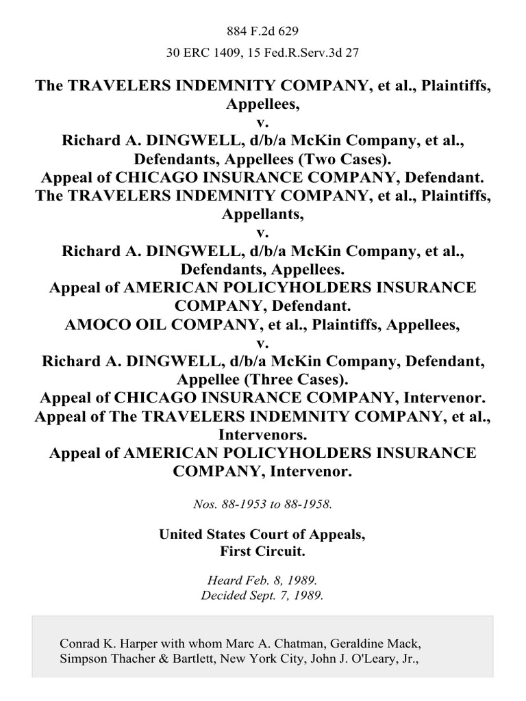 Travelers indemnity co