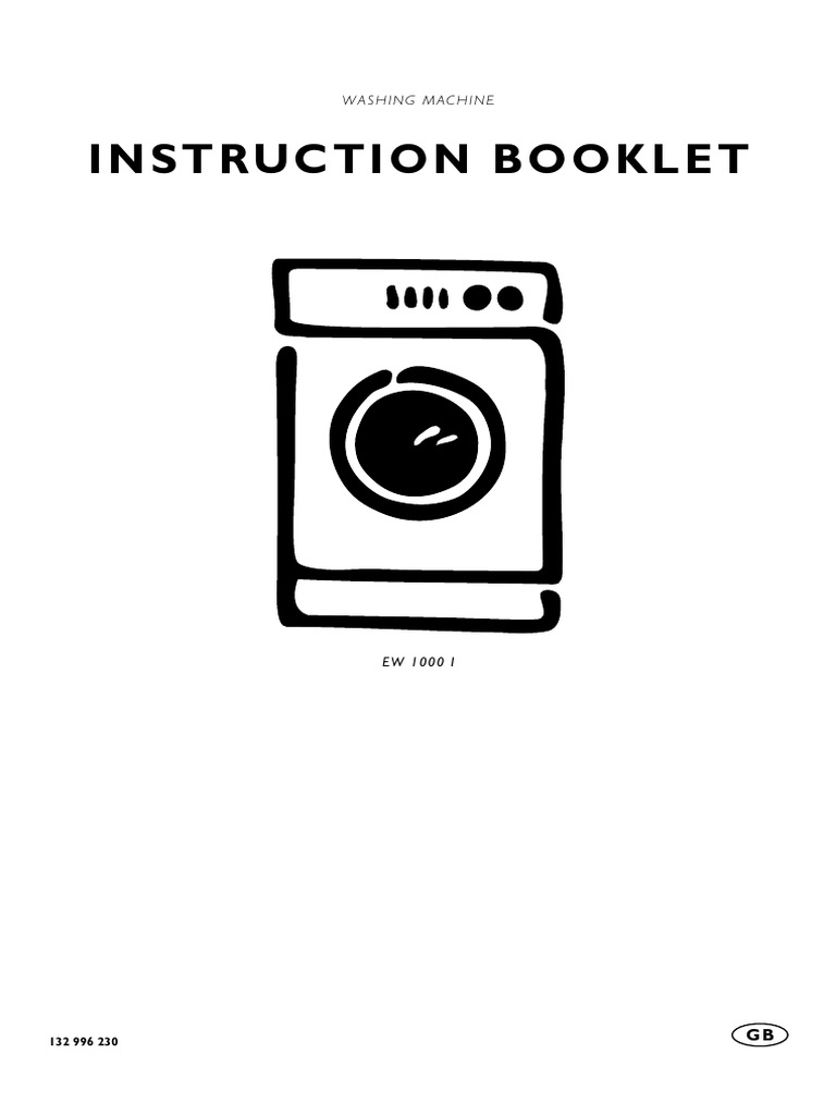 washing machine instruction manual