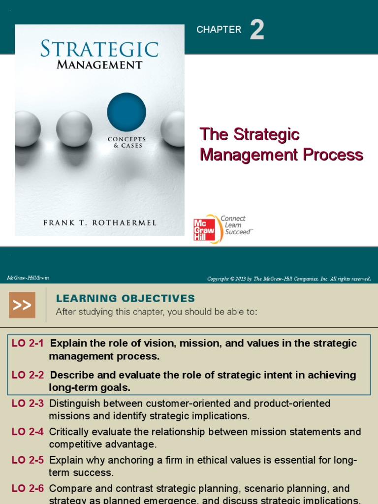 explain the strategic management process