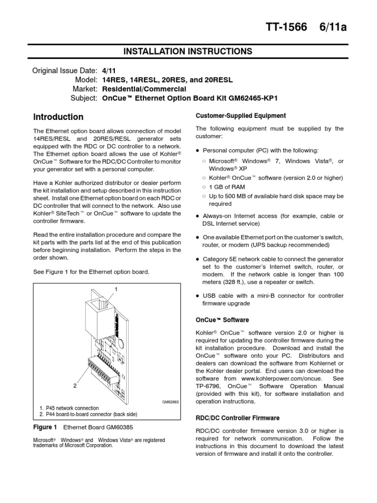 Kohler OnCue Software Installation Directions - DocShare.tips