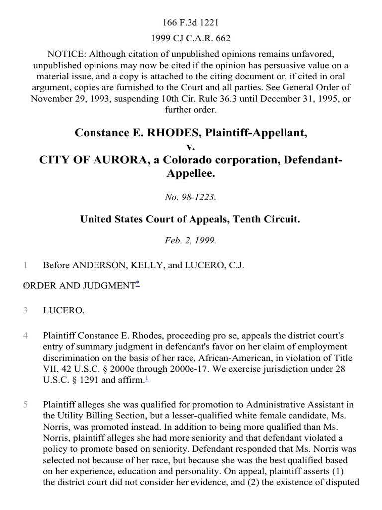 City Of Aurora, A Colorado Corporation, 166 F3d 1221, 10th Cir (1999 How  To Become A Notary In