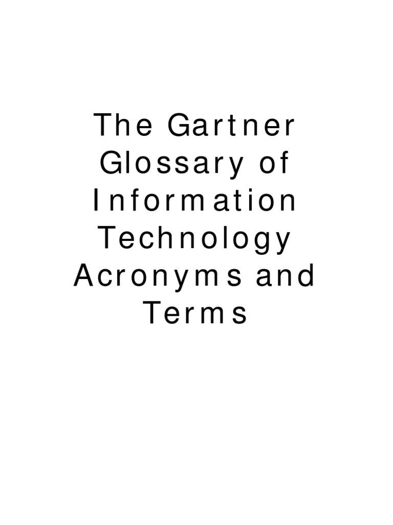 Gartner IT Glossary - DocShare tips