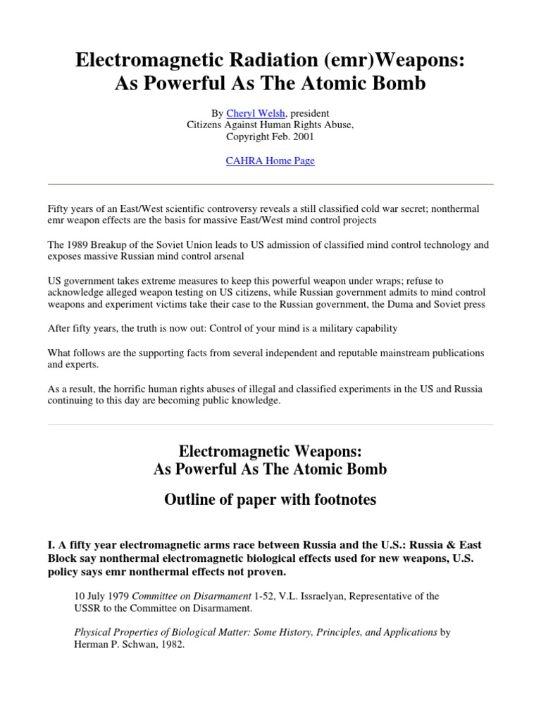 Download (ebook) - Electromagnetic Radiation Weapons