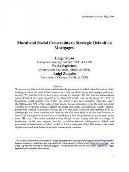 an analysis of strategic default as the intentional default on mortgage obligations A strategic default is a deliberate default by a borrower as the name implies, a strategic default is done as a financial strategy and not involuntarily strategic defaults are commonly employed.