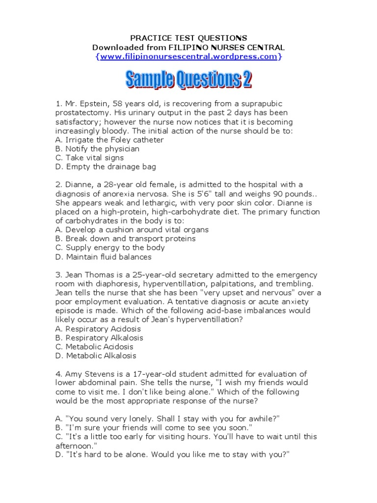 Download NBME Sample Questions 2 - DocShare.tips
