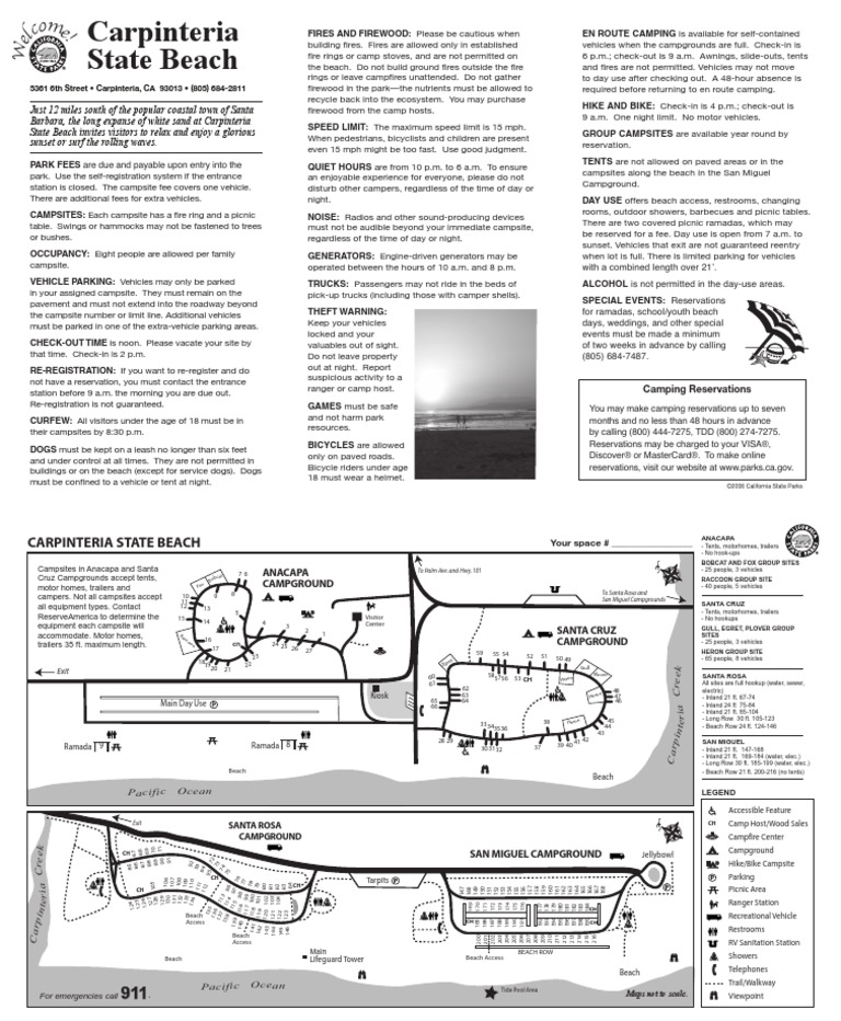 Carpinteria State Beach Campground Map - DocShare.tips on half moon bay camping map, san elijo camping map, alaska camping map, gaviota beach camping map, sunset state beach camping map, los padres national forest camping map, silver strand camping map, huntington beach camping map, south carlsbad camping map, california camping map, catalina island camping map, arizona camping map, oregon camping map, coachella camping map, point mugu camping map, gaviota state park camping map, massachusetts camping map, morro bay camping map, emma wood camping map, death valley camping map,