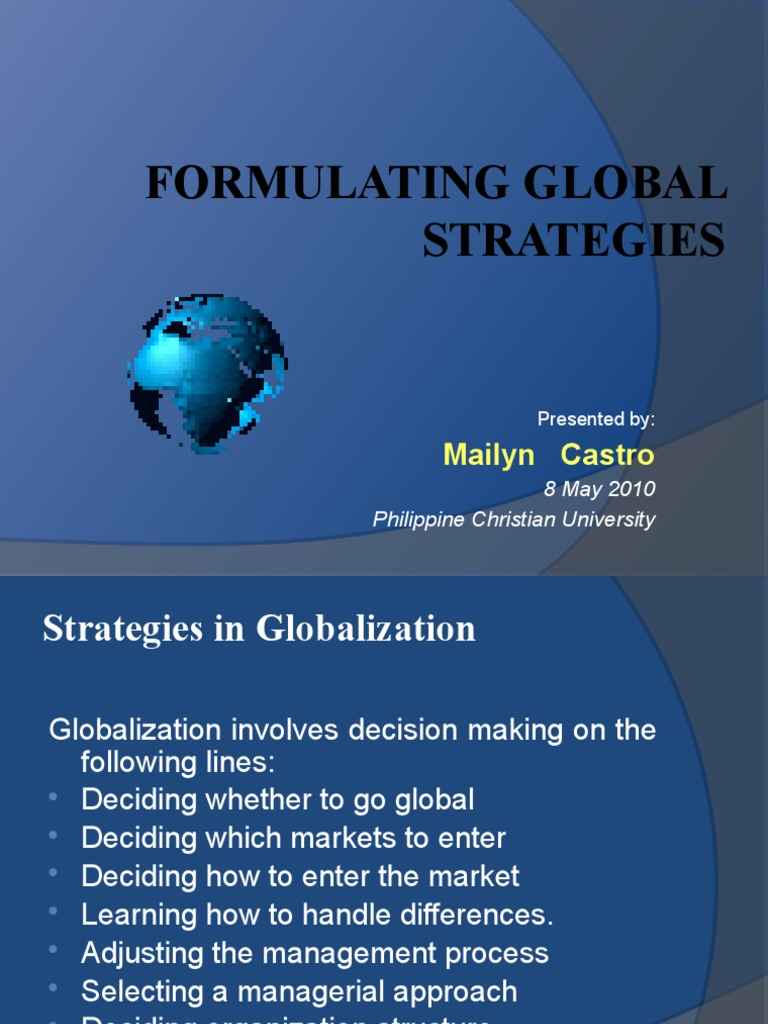 global consideration paper mgt448 global business strategies