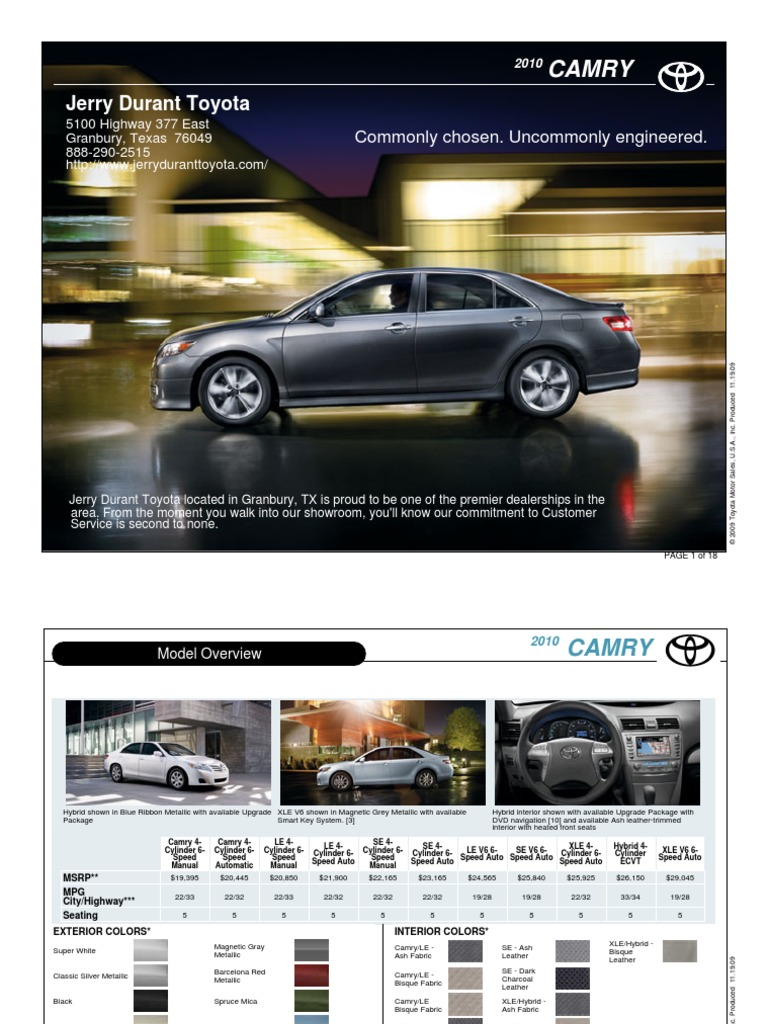jerry durant toyota us 2010 jerry durant toyota camry dallas tx docsharetips