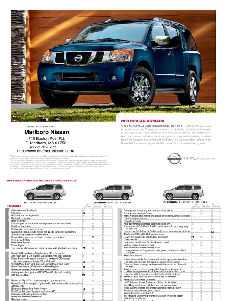 100 2010 nissan armada owners manual 2017 nissan. Black Bedroom Furniture Sets. Home Design Ideas