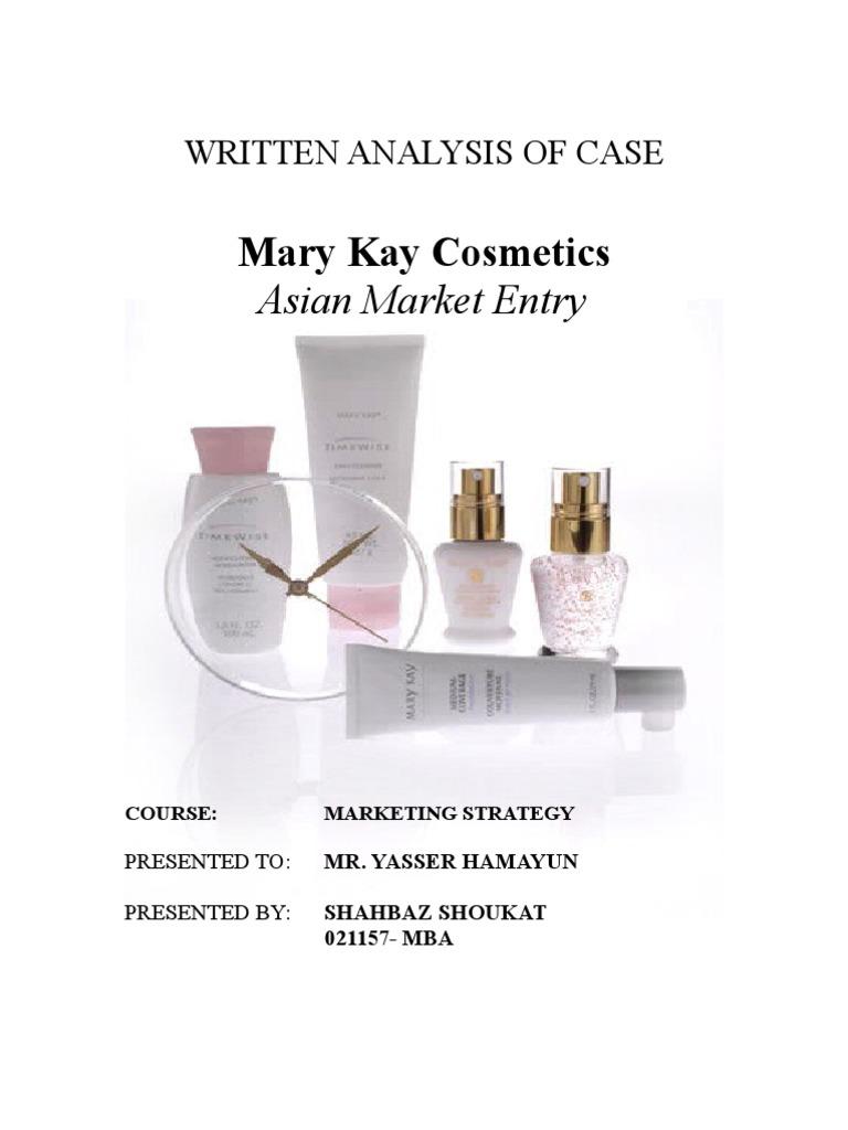 mary kay cosmetics asian market Mary kay cosmetics: asian market entry 6 mk cosmetics mary kay cosmetics cosmetic surgery cosmetic surgery essay olive oil cosmetics.