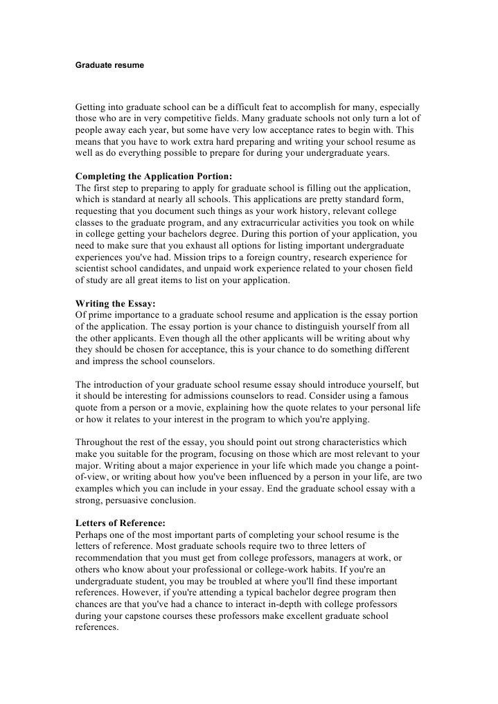 graduate resume docshare tips