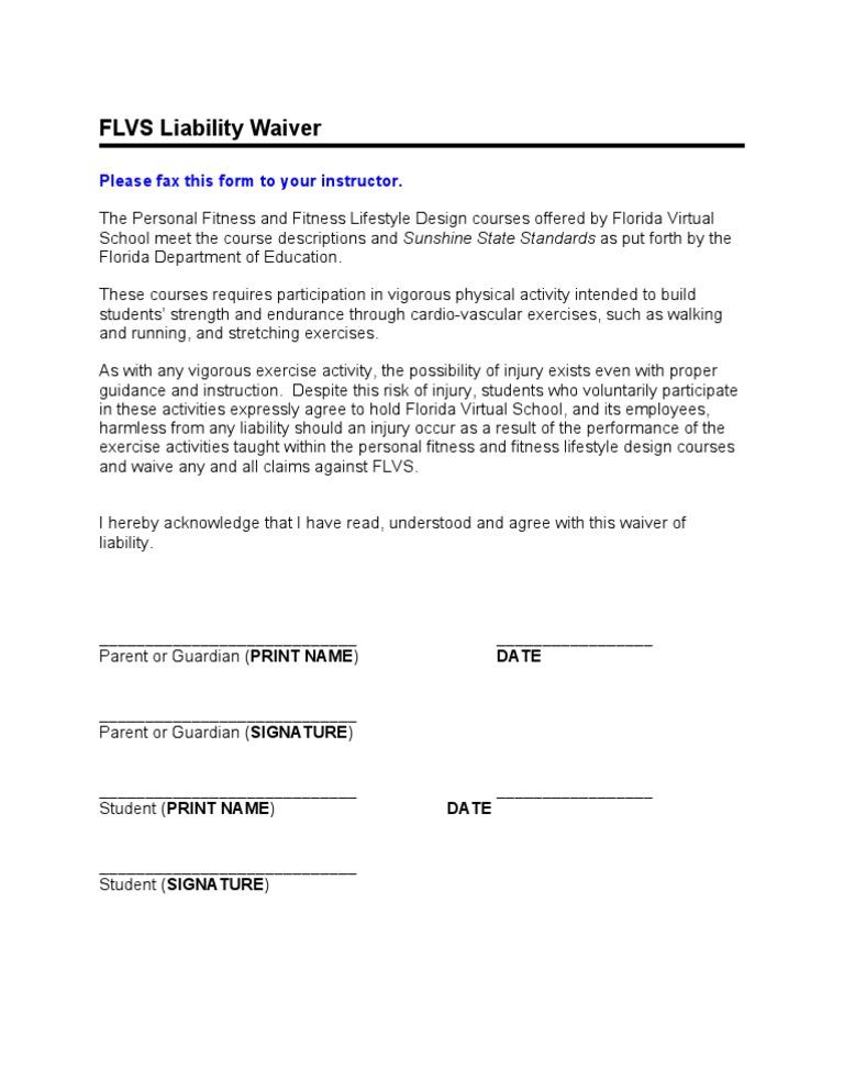 Liability Waiver  DocshareTips
