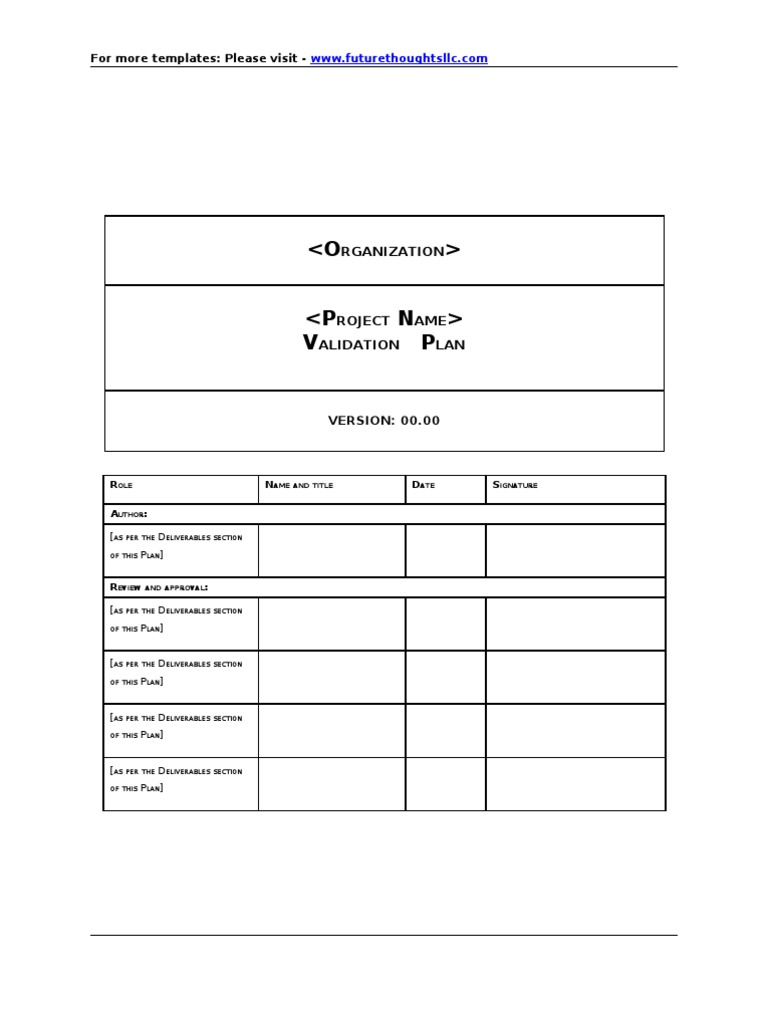 Validation Plan Template For Computer Systems Validation For Fda Regulated Industry