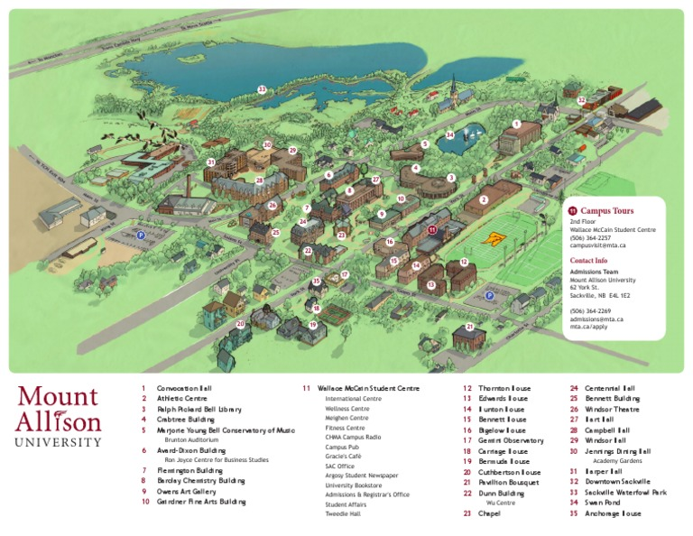 Mount Allison University Campus Map Docshare Tips