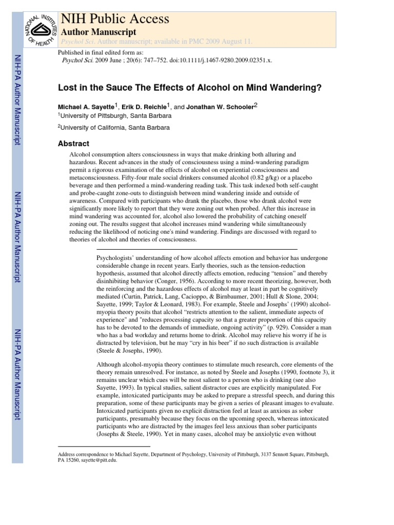an analysis of the effects of alcohol and a brief research on the number of deaths Methods: a time-series quasi-experimental research design was used, including nonalcohol deaths within florida and other states' rates of alcohol-related mortality for comparison a total of 432 monthly observations of mortality in florida were examined over the 36-year period.