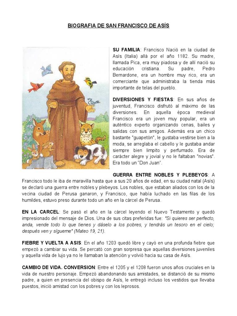 biografia de san francisco de as u00cds
