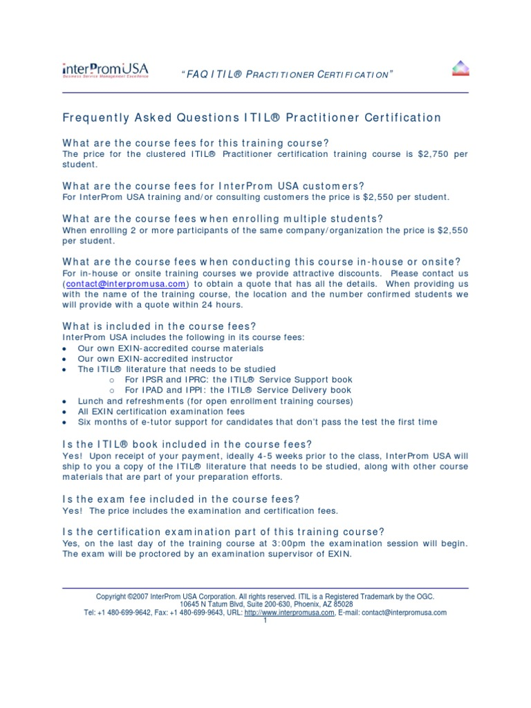 Download faq itil practitioner certification training course by download faq itil practitioner certification training course by interprom usa docshare 1betcityfo Image collections